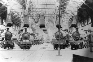 Old Oak Common Engine Shed, c1910
