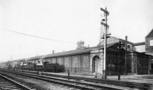 The Old Running Shed, Swindon Works, c1910