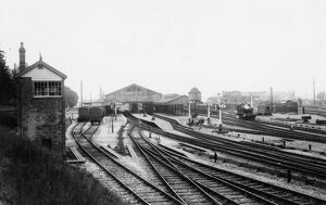 Overall view of Newton Abbot Station, c.1920s