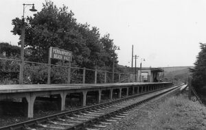 stations halts/cornwall stations perranporth stations/perranporth beach halt c1960
