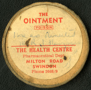 Prescription ointment from the Swindon Medical Fund Society