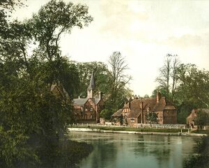 The River Thames at Whitchurch, near Pangbourne, c1890