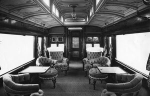 Interior view of Royal Saloon No.233 (later 9002), 1909