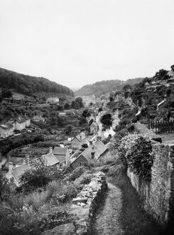 Scenic view of Chalford Station, 1937