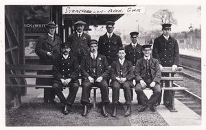 Staff at Stratford on Avon station, 1910s