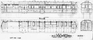 Diagram of Steam rail motor, built 1906