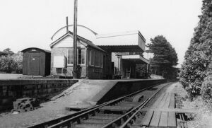 Stow-on-the-Wold Station and Signal Box, c1950s