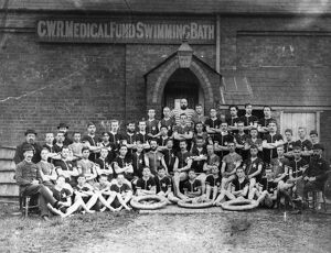 – Swimmers from the GWR Medical Fund Society swimming baths (situated within the Works)
