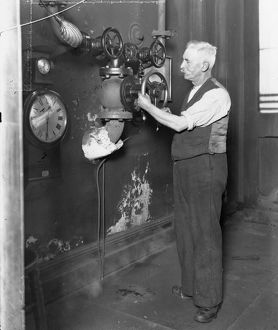 Swindon Works Hooter Operator 1936