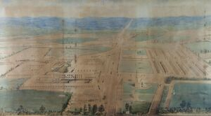 Swindon Works and Railway Village by Edward Snell. 1849