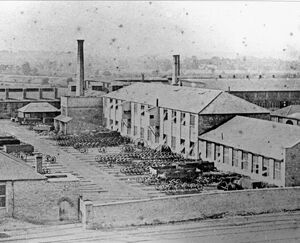 View of Swindon Works, c1860