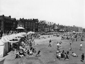 Holidaymakers on the beach at Weymouth, 1920s