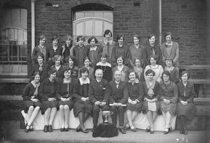 XL7-003 CME's Dept ladies choir with cup c1930