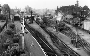 Yeovil Pen Mill Station looking east towards Castle Cary